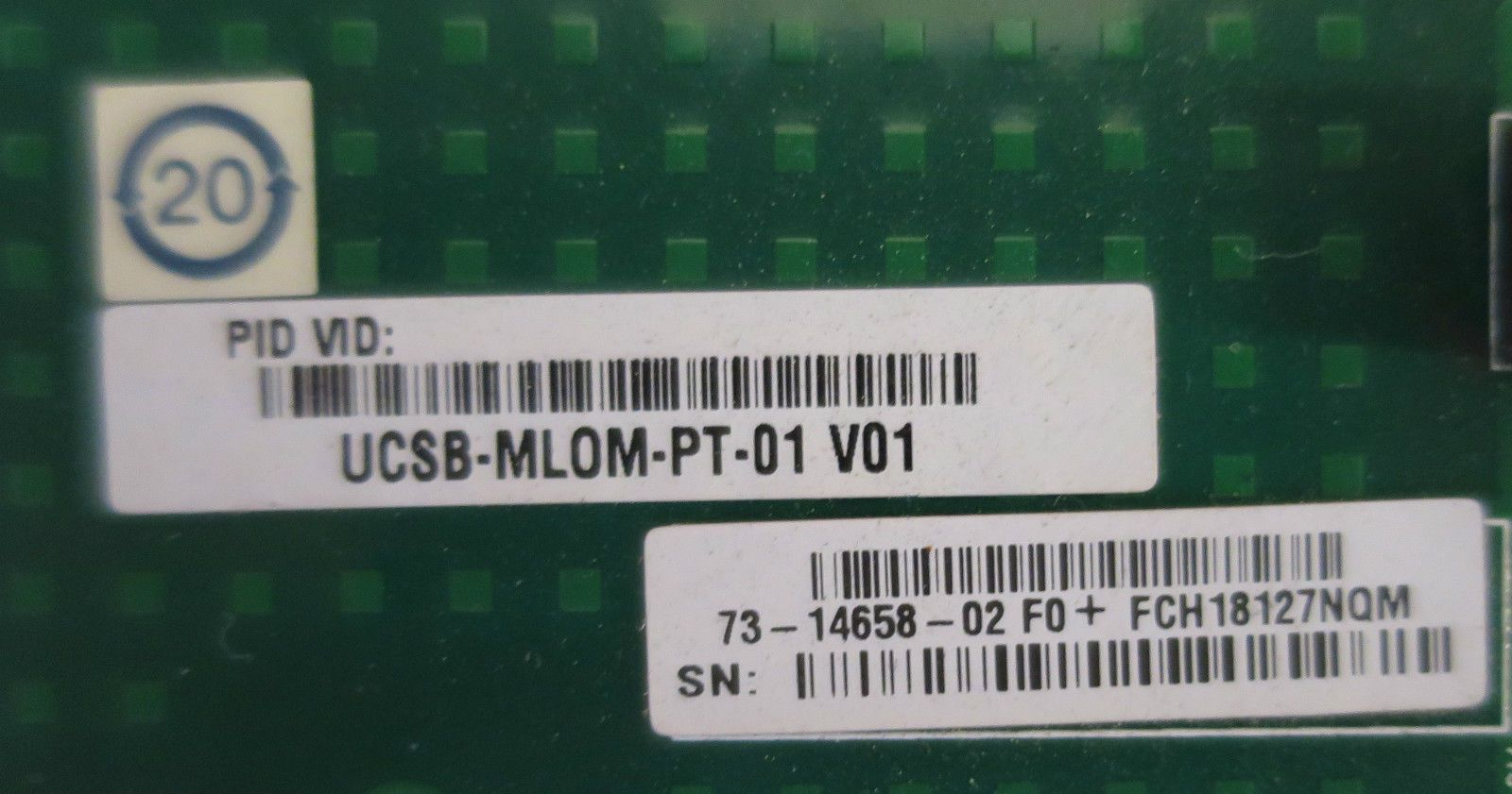 Cisco UCSB-MLOM-PT-01 UCS VIC 1240 4 Port 10Gb Interface Card M3 Blade  Servers